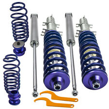 BR Adjustable Coilovers for VW Golf MK4 2WD only A4 1998-2005 Coil Springs Blue