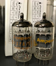 (2) Matched Dutch Amperex 12AX712AX7A ECC83 NOS - Amplitrex AT-1000 tested Rare