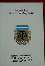 Argentina mondiale Spagna82 world cup coppa mondo programma programm football