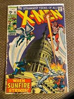X-Men #64 1st Appearance of Sunfire 1970 Marvel Key Issue Bronze Age