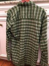 Mens Mountain Khaki Flannel Shirt, Medium