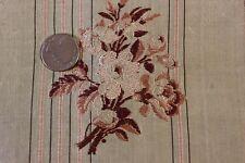 """French Antique 18thC Pale Green Silk Brocade Fabric~1yd 20""""LX18""""W~HomeDec,Dolls"""