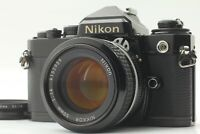 ☆[NEAR MINT] Nikon FE BLACK 35mm SLR Camera + Nikkor Ai 50mm F/1.4 From JAPAN