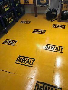 DeWALT Logo Stencil Decal Impact Drill Saw PowerTools Battery Jigsaw DIY