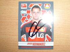1  Topps Bundesliga Sticker 2015/16   Javier Hernandez  original signiert