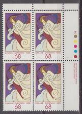 CANADA #1115 68¢ Christmas Angels UR Plate Block MNH