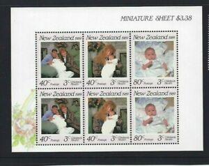 MINT 1989 NEW ZEALAND NZ HEALTH FERGI PRINCE ANDREW ROYAL BABY MINI SHEET