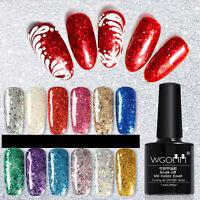 Glitter Shine Bling UV/LED Gel Nail Soak Off Polish Manicure Nail Art 7.3ml Free
