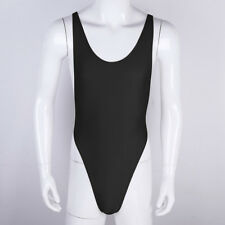 Men's Sissy Lingerie Crossover Thong Bodysuit Leotard Jumpsuit Underwear #L