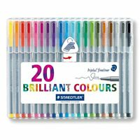 STAEDTLER TRIPLUS FINELINER - 0.3MM - 20 BRILLIANT COLOURS