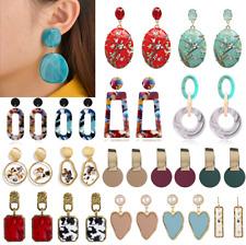 Women Bohemian Acrylic Geometric Statement Pendant Ear Stud Dangle Drop Earrings