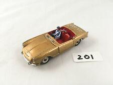 RARE DINKY TOYS # 114 TRIUMPH SPITFIRE SPORTS CAR ORIGINAL DIECAST 1963 GOLD