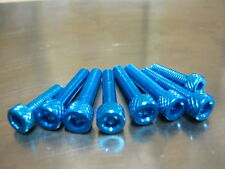 Fuel Cap Bolt Kit for Kawasaki ZX-6R 636 Ninja  2003 onwards, blue anodised