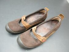 MERELL SIZE 8 WOMENS BROWN LEATHER COMFORT MARY JANE WALKING FLAT SHOES 2C