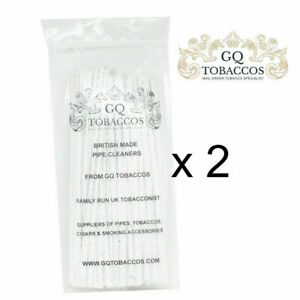 2 packets of GQ Tobaccos Tapered Pipe Cleaners 100 = 200 pipe cleaners