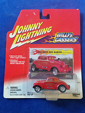 Johnny Lightning Willys Gassers - Hill Bros. Red Baron - 1:64 Scale