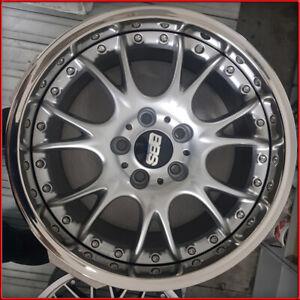 Cerchi in lega CK BBS 8,5X18 5X120 ET35 DT BMW Serie 3 X1 Opel Insigna Silver