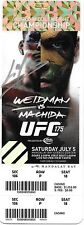 Lyoto Machida Signed UFC 175 2014 Fight VIP Full Ticket Autograph Chris Weidman