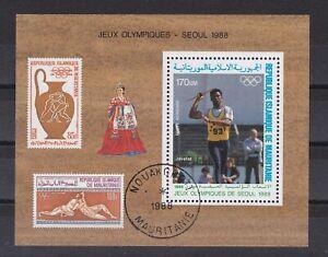 7468 Mauretanien Olympiade Block 70 gestempelt  (449)
