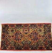 Vintage Karastan Kirman #717 Wool Rug 2'2 X 4' runner 2x4 Multi-Color