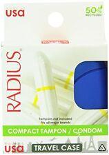 Radius Compact Tampon Condom Travel Case Colors Vary