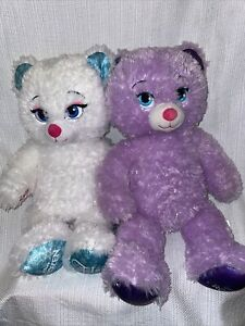 Build A Bear Disney Frozen Elsa and Singing Anna Bears BAB Anna Sings Purple