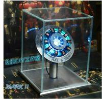 Iron Man Tony Stark Scale Arc Ark Heart Pioneer Reactor Kit Light Figure Models