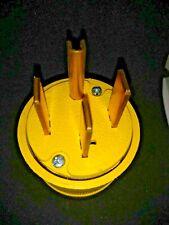 Pass Seymour 1451 50A Straight Blade Gator Grip 4 Way Yellow Plug FREE SHIPPING
