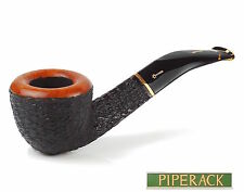 NEW Savinelli Oscar Tiger Rustic 305 . 6mm Balsa Filter Bent Pipe