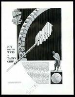 1932 Walter Hagen photo L.A. Young golf balls clubs big vintage print ad