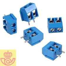 (lote 5pcs) Terminal tornillo 2 pines 5mm (Arduino, PCB, breadborard)
