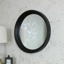 Espejos decorativos redondos de madera para el hogar