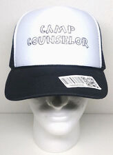 NEW - CAMP COUNSELOR Mesh Trucker OTTO Hat Snapback Cap Black White Brown NWT