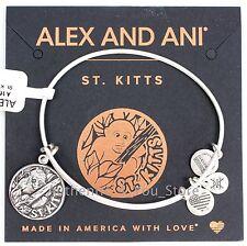 NEW ALEX AND ANI St. Kitts Exclusive SILVER Vervet Monkey Charm Bangle Bracelet