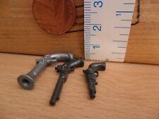 Three Small Plastic Toy Guns/ Pistols - Playmobil New Western Spare Parts