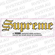 SUPREME (viscount group) Caravan decal, sticker, vintage, retro, graphics