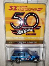 New Listing2018 Hot Wheels 32nd Annual Collectors Convention Datsun 510 Wagon Super NiceCar