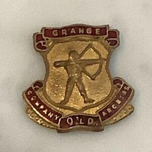 Vintage Grange Company Archers Qld enameled badge