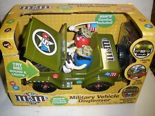 NEW RARE M&M's MILITARY VEHICLE CANDY DISPENSER SOUNDS & LIGHTS NIB 2009