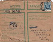 (34255) Gb servicio activo privilige envolvente 10d Azul censurar pasado 1940 FPO