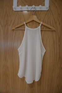 Abercrombie & Fitch White Halter Neck Top Size XS