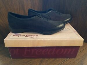 Barefoot Freedom By Drew Keena Women's Leather Suede Shoes Black Combo Size 7M