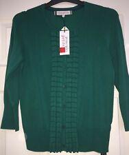 Deep green 3/4 sleeve cardigan by Principles by Ben de Lisi size 14 BNWT