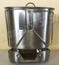 NEW STYLE Stainless Steel Canteen Cup with Butterfly Handle and Vented LID.