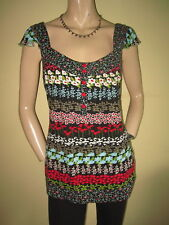 Floral Scoop Neck Tops & Shirts Size Tall for Women
