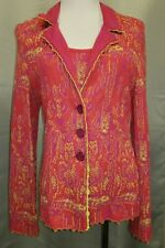 CATHERINE ANDRE MULTI FLORAL PRINT JACKET W MATCHING TANK SZ L NWOT
