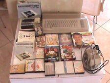 COMMODORE COMPUTER C64  + DATASSETTE GIOCHI WONDERBOY FLUNKY RAMPAGE STREET Figh