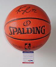 KEVIN LOVE CLEVELAND CAVALIERS SIGNED SPALDING NBA BASKETBALL PSA COA W37789