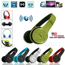 Wireless Bluetooth Headphones Foldable Stereo Noise Cancelling Headset Mic US
