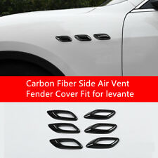 6pcs Carbon Fiber Side Air Vent Fender Cover Fit for Maserati Levante 2016 2017